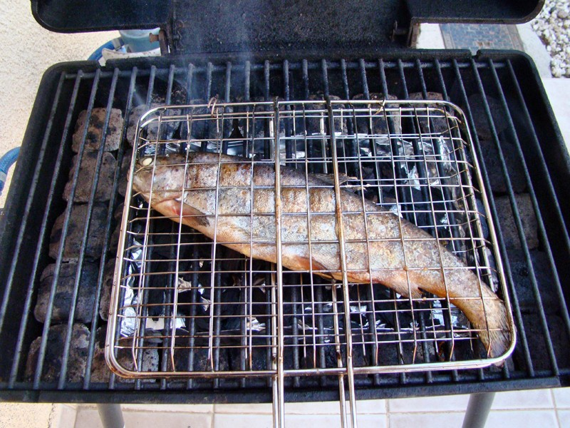 Smoked trout. Stap 7