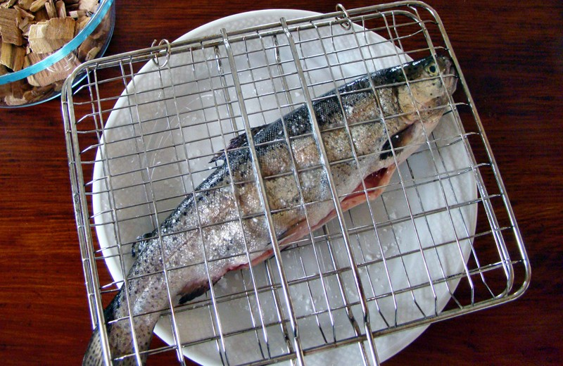 Smoked trout. Stap 2