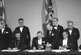 Signing the agreement on the independence of Cyprus