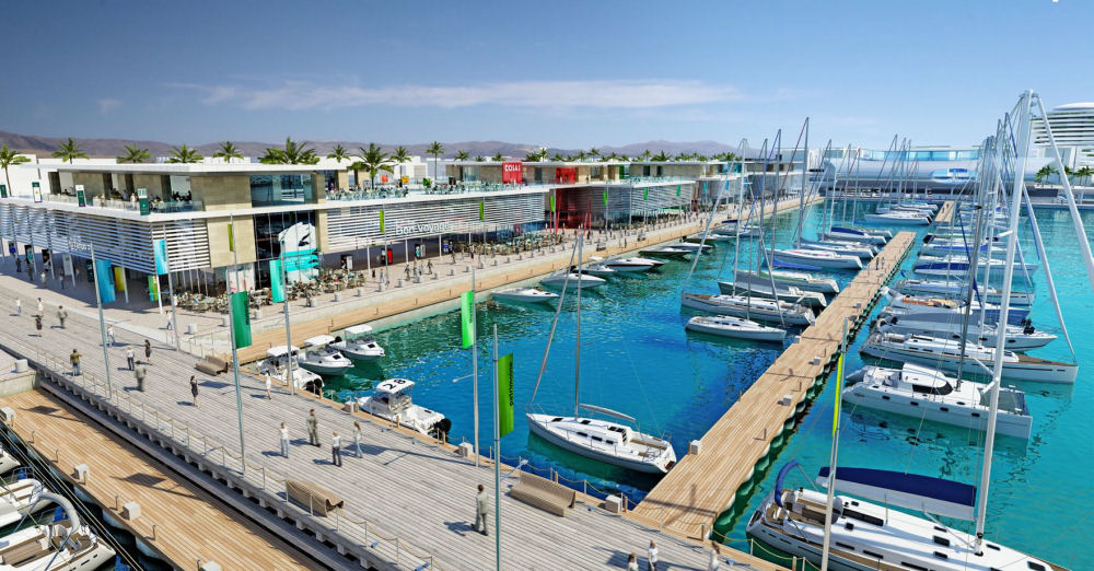 the marina at Larnaca