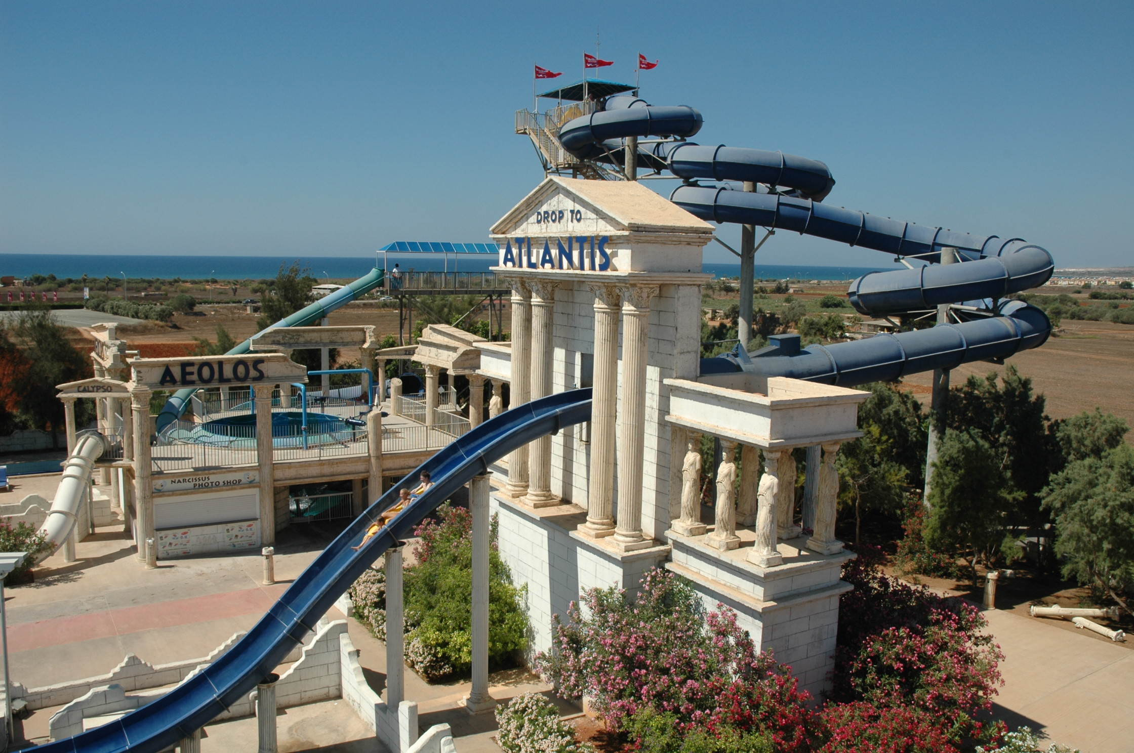 The water park in Ayia Napa