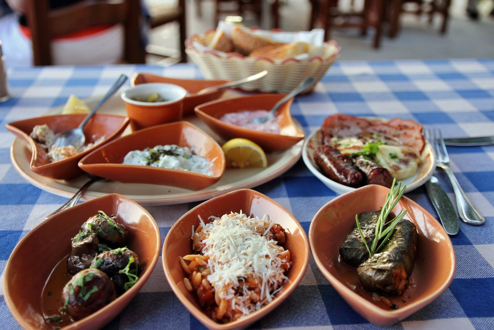 traditional Cypriot Meze dishes