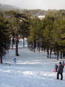 Олимпос зимой
