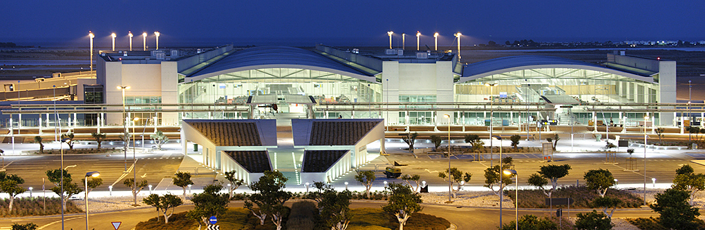 The Larnaca airport