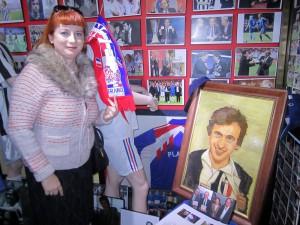 Наталия Питман в музее Платини