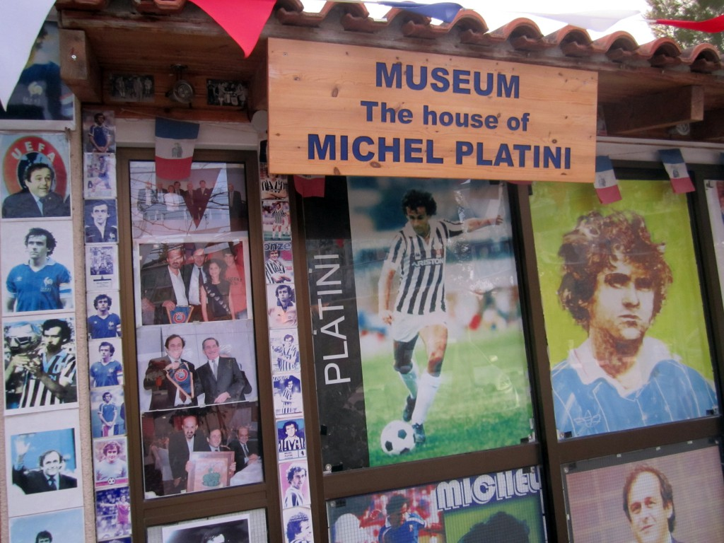 Экспонаты музея Платини