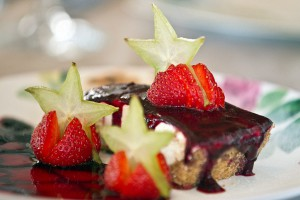 Десерт в ресторане The Garden