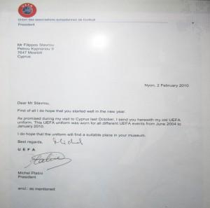 Письмо Платини