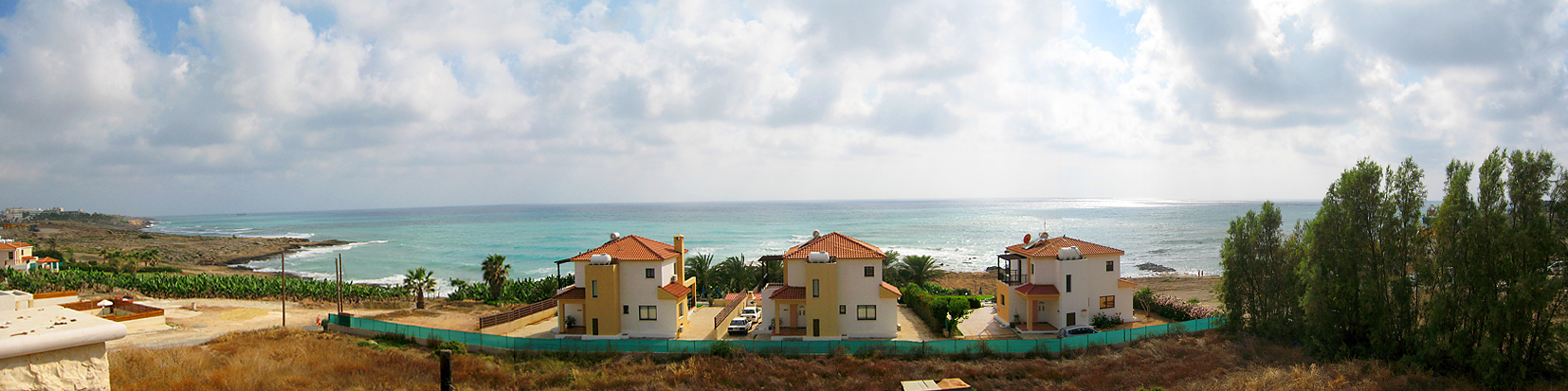 houses by the sea at Paphos