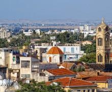 Вид на старый город Никосии
