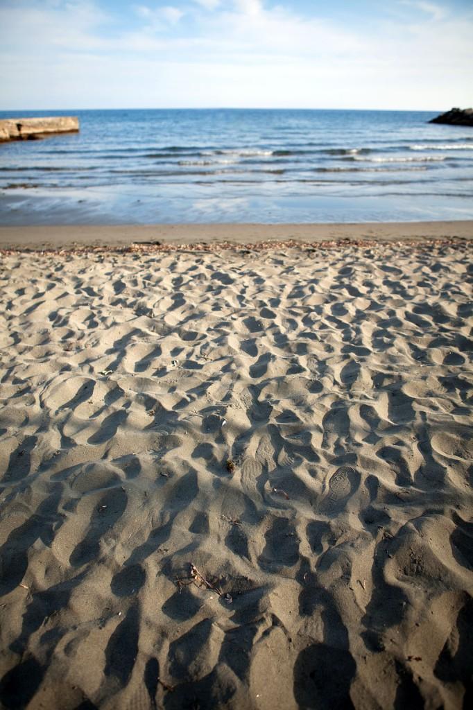 Пляж на Кипре весной