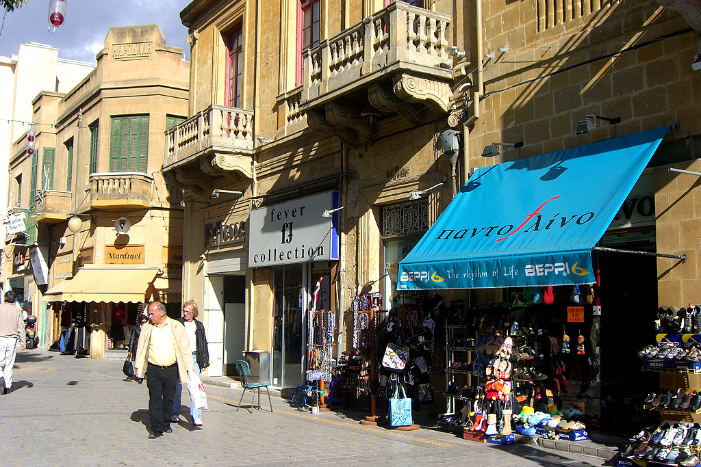 a souvenir shop in Nicosia