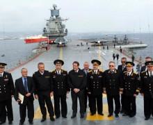 """Президент Кипра на борту авианосца """"Адмирал Кузнецов"""""""