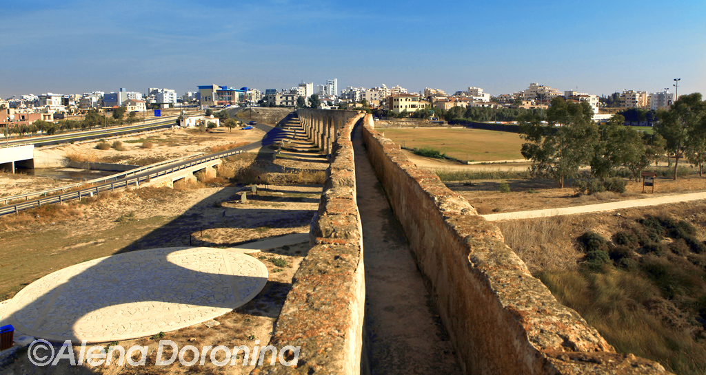 the Ancient Aqueduct in Larnaca