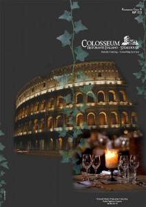 Меню ресторана Colosseum