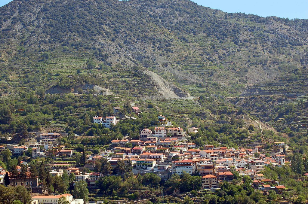the view of Agros village