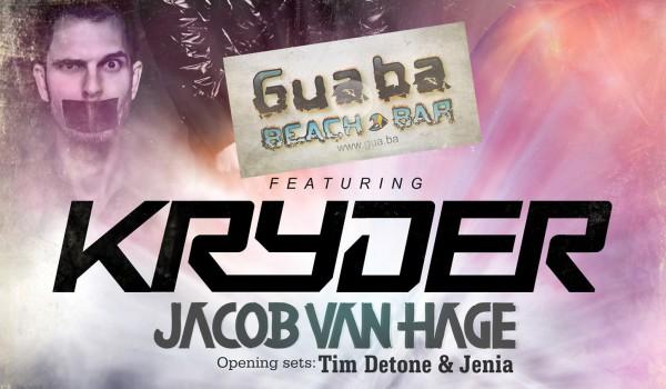 Ди-джеи Kryder и Jacob Van Hage в Guaba Beach Bar