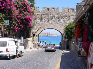 the ancient city of Rhodes