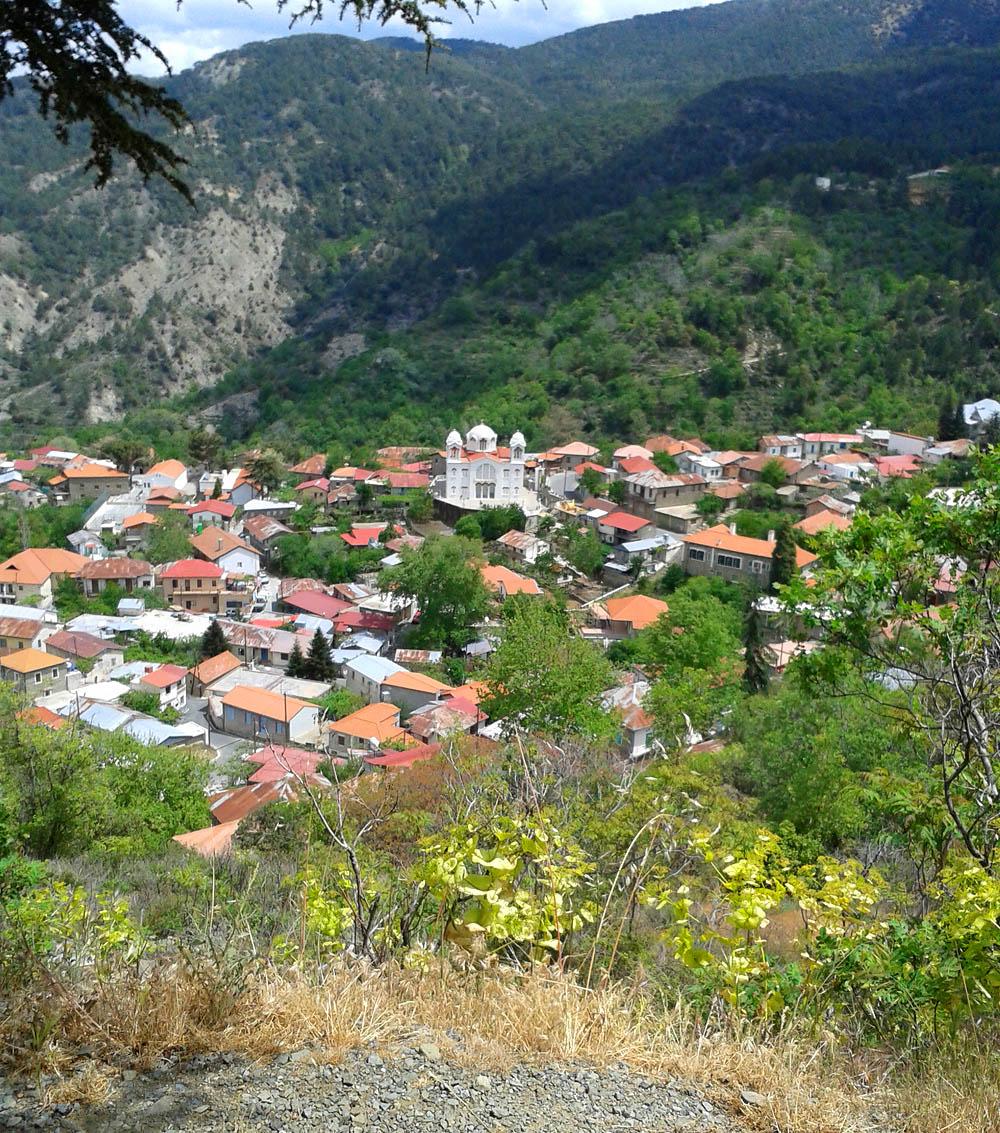 Вид с площадки - рядом с вершиной Олимпа