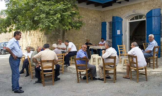 a traditional coffee shop in Cyprus