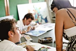 Урок рисования в Grammar School