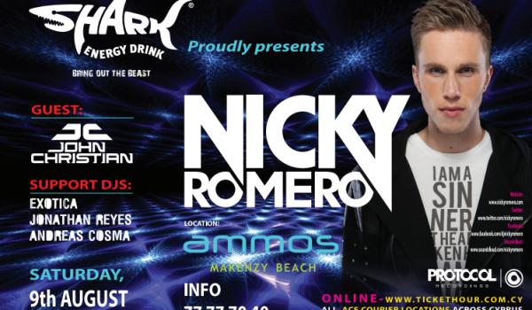 Nicky Romero в Ammos Beach Bar