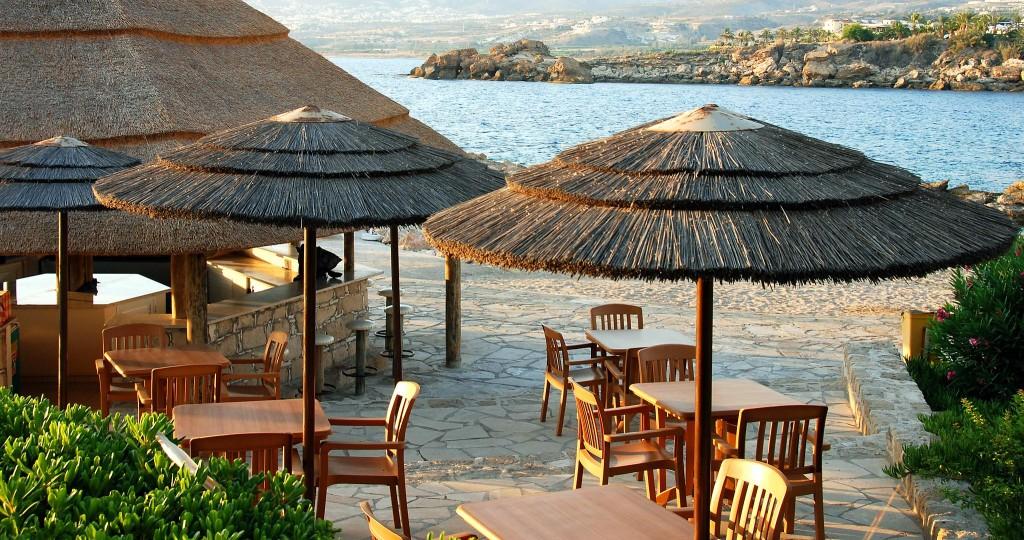 a beach in Paphos