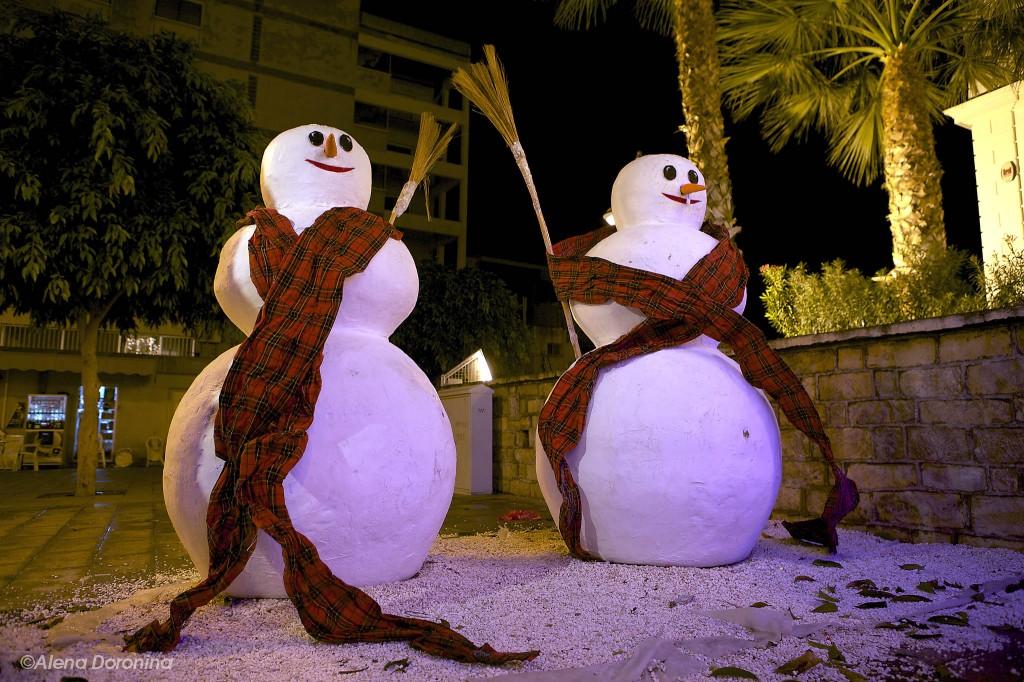Новогодние декорации на Кипре