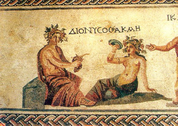 Мозайка с изображением бога вина Диониса