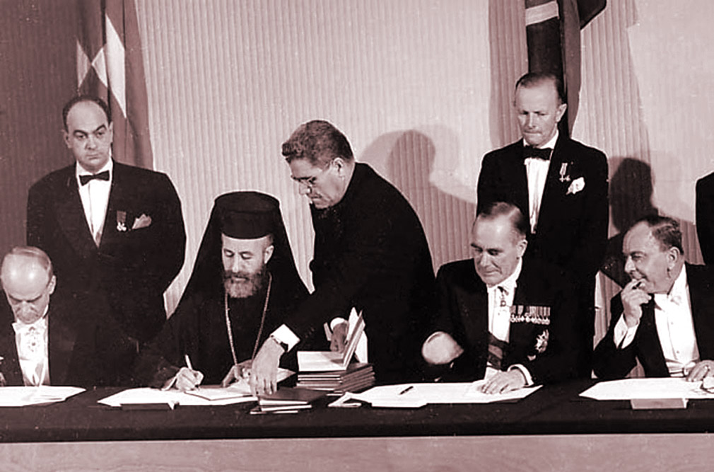 The agreement signing for the creation of the Republic of Cyprus