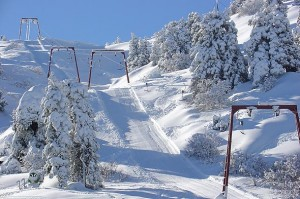 Troodos mountain during winter