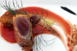 Involtino di tonno в ресторане Caprice