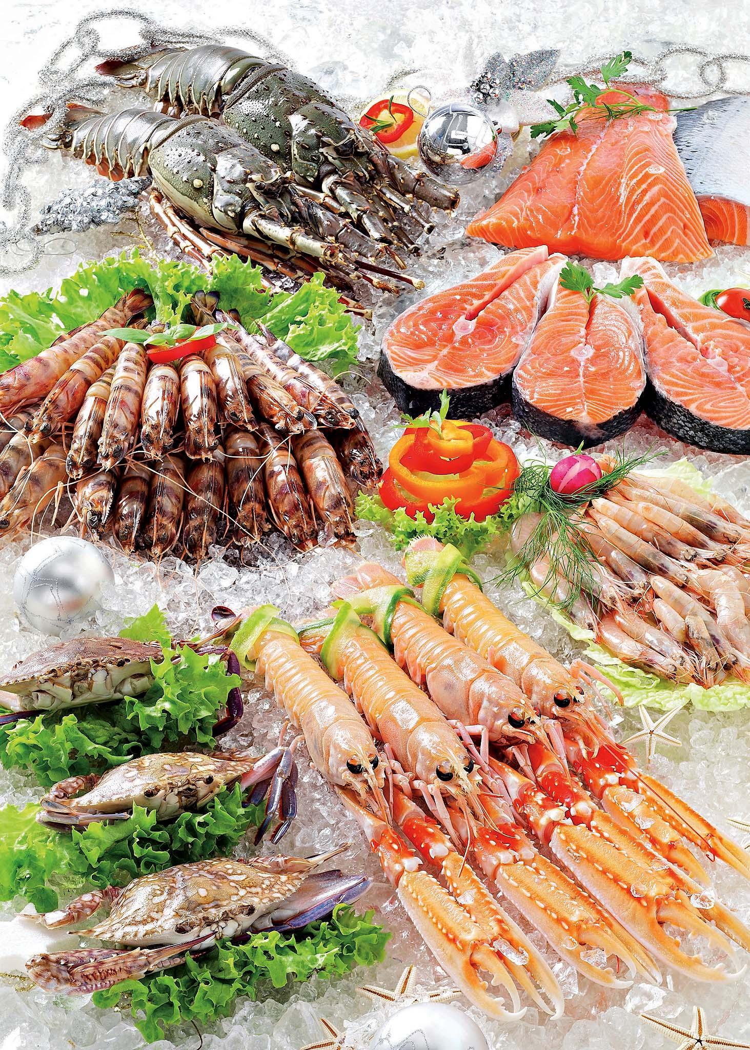 Супермаркеты Carrefour - рыбный отдел