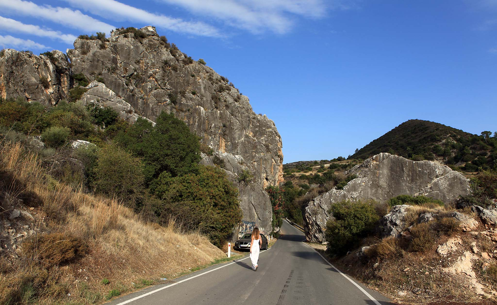 Дорога в горах Кипра