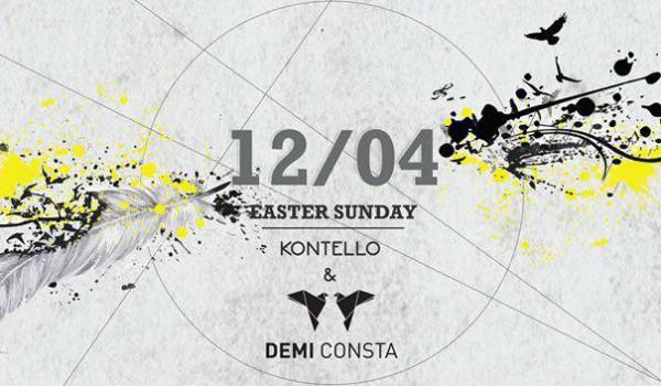 Диджеи Demi Consta и Kontello в Ammos Beach Bar