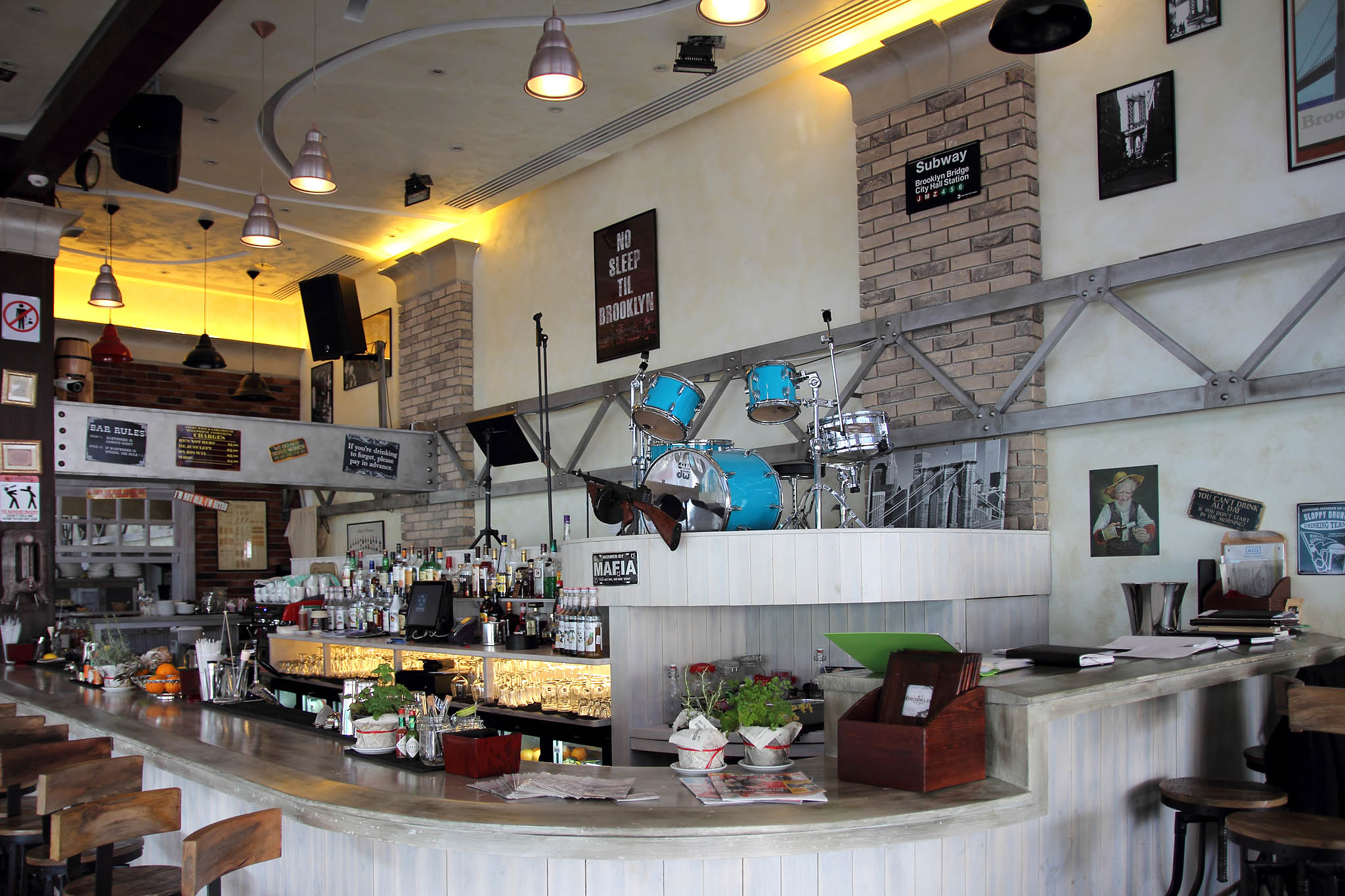 Интерьер ресторана Brooklyn Dyker Heights