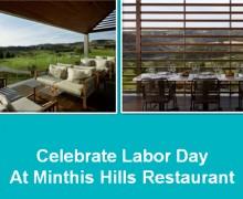 Праздничный обед в ресторане Minthis Hills