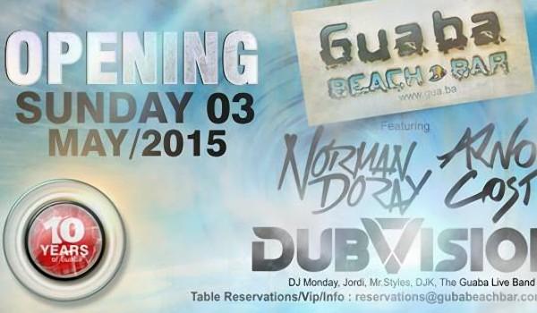 Открытие сезона 2015 Guaba Beach Bar