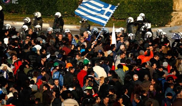 Демонстрация протеста в Греции