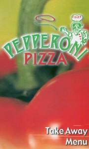 Pepperoni pizza. Menu