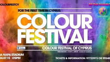 Фестиваль красок в Айа-Напе