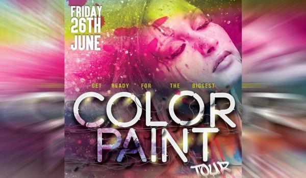 Пляжная вечеринка Color Paint Tour в Ларнаке