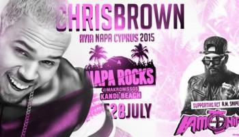 Концерт Криса Брауна в Айя-Напе